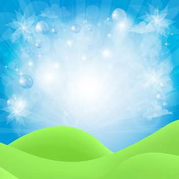 abstract natural background with blue sky - vector gratuit(e) #134773