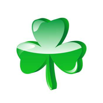 three leaf clover vector illustration - vector gratuit #134793