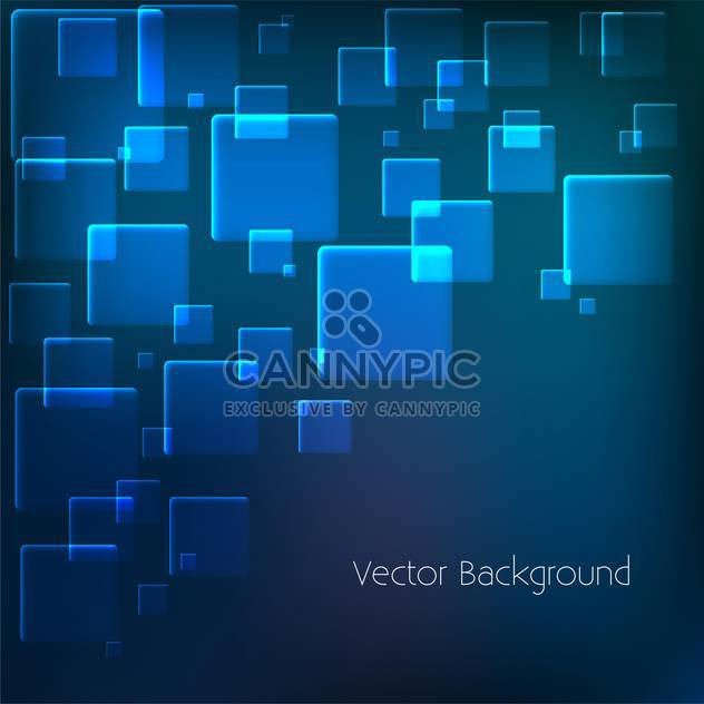 vector background with blue squares - Free vector #134843