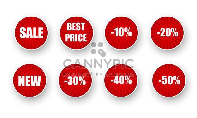 Vektor-Reihe von Verkauf Etiketten - Kostenloses vector #134893