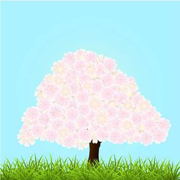 spring blossom tree illustration - vector #134913 gratis
