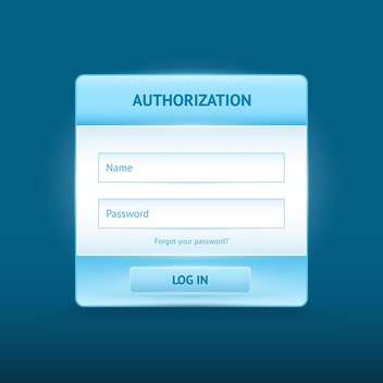 login and register glossy web forms - Free vector #134933