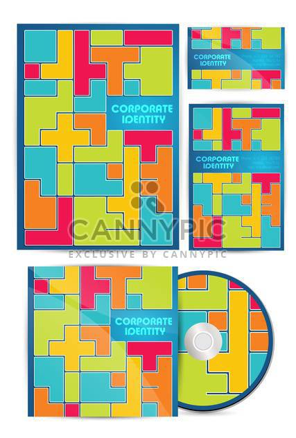 vector colorful corporate identity background - Free vector #134973