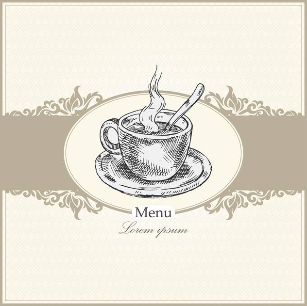vintage menu for restaurant, cafe or bar - vector #134993 gratis