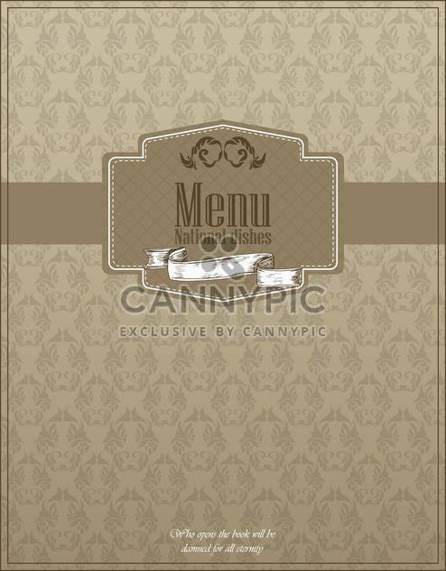 restaurant menu design with national dishes - Free vector #135043