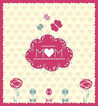 festive card for mother's day illustration - бесплатный vector #135063
