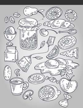 various food in artistic vintage style - vector #135163 gratis