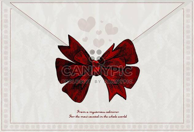 vector letter background with red bow - Free vector #135193