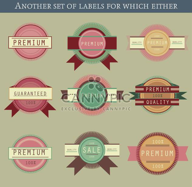 set of retro vector labels and badges background - Free vector #135213