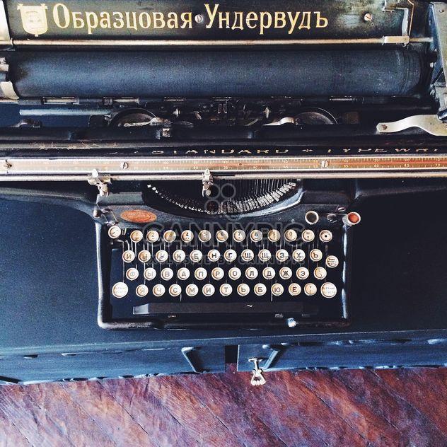 Schwarze alte Schreibmaschine - Free image #136183