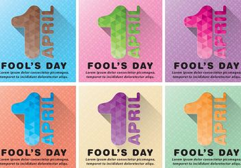 April Fools Vector Backgrounds - vector gratuit #138853