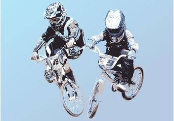 Bike Race - vector gratuit #138963