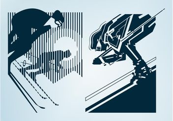 Skiing People Designs - vector gratuit(e) #139003