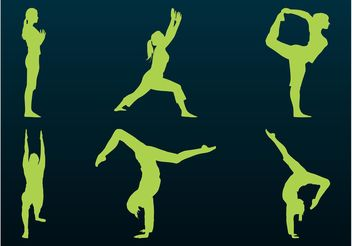 Flexible People Silhouettes - vector gratuit #139043