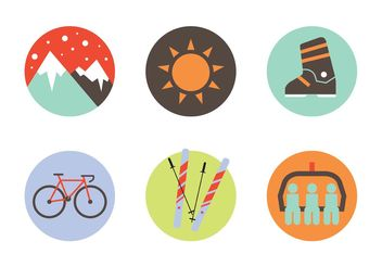 Winter Sports Icon Set - Free vector #139073