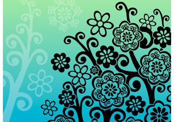 The Flower Tree - vector #139143 gratis