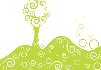 Stylized vector tree - Free vector #139413