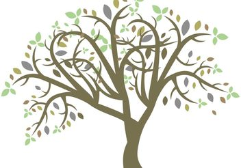 Vector colorful tree - vector #139433 gratis