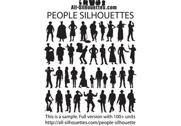 People Silhouette - vector gratuit #139523