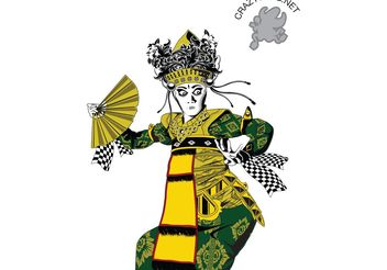balinese dancer - vector gratuit #139673