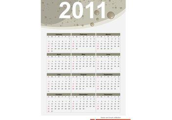 2011 Free vector calendar - Kostenloses vector #139703