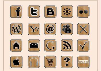 Social Web Icons - Kostenloses vector #139743