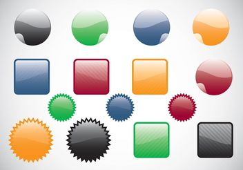 Web Buttons Vectors - бесплатный vector #139753