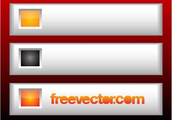 Metallic Web Buttons - Free vector #139763