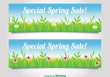 Spring Sale Banners - Free vector #139833