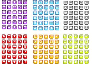 Random Free Colorful Vector Icons - Free vector #139963