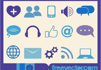 Tech Icons Vector - Kostenloses vector #139983