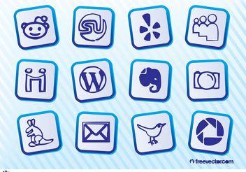 Social Media Icon Pack - Kostenloses vector #140103
