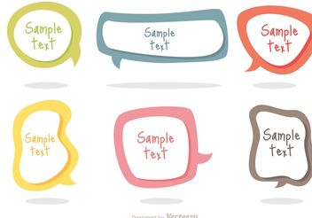 Colorful Text Bubble Vectors - vector gratuit #140133