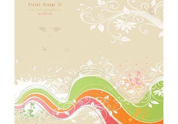 Flower Grunge Background - Kostenloses vector #140163