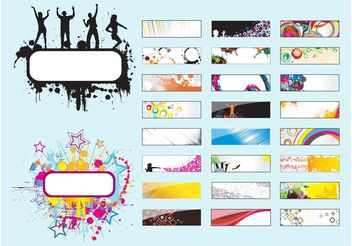 Labels Vectors - vector #140223 gratis