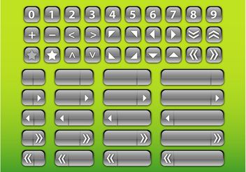 Silver Interface Buttons - Kostenloses vector #140243