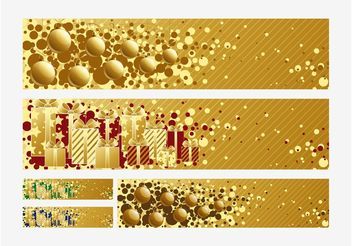 Christmas Banners Vectors - Free vector #140253