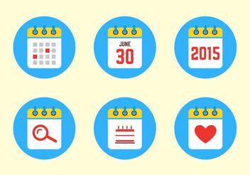 2015 Calendar Icons - Kostenloses vector #140263