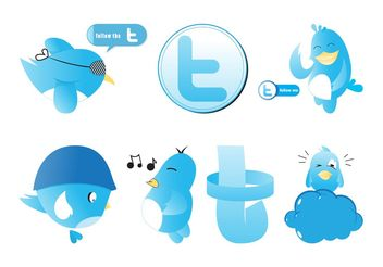 Twitter Graphics Set - Free vector #140273