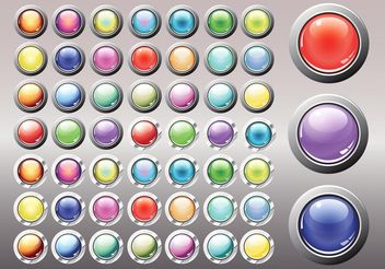 Shiny Buttons - Free vector #140443