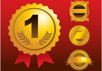 Medal Vectors - vector #140613 gratis