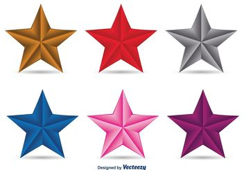 3D Vector Stars - vector gratuit #140963