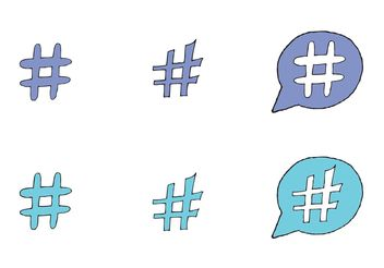 Free Hashtag Vector Series - Free vector #140983