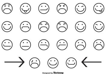 Assorted Smiley Face Icons - Free vector #141023