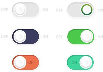 On Off Toogle Button Vectors - Free vector #141033