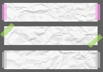 Free Vector Crumpled Paper Banners - бесплатный vector #141043