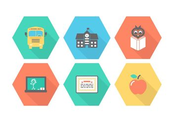 Free School Vector Icons - Free vector #141063