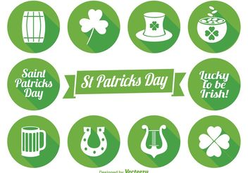 Saint Patrick's Day Icon Set - Free vector #141223