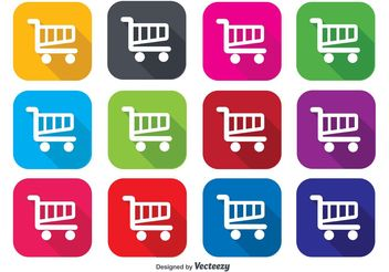 Shopping Cart Icons - Free vector #141273