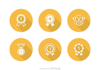 Free First Place Ribbon Vector Icon Set - Kostenloses vector #141293